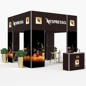 Gastronomiczne stoisko targowe producenta kawy Nespresso