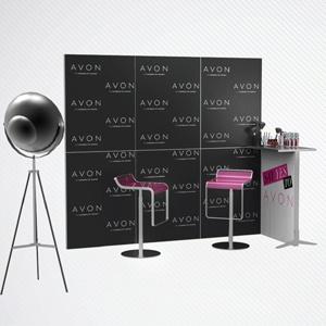 Ścianka promocyjna dla firmy kosmetycznej