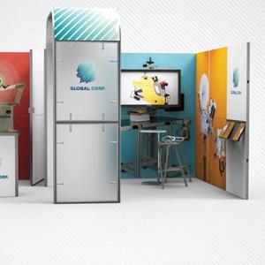 Ścianka reklamowa z zadaszeniem na targi i konferencje
